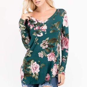 Tops - Long sleeve Floral Shirt